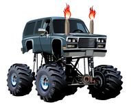 Cartoon Monster Truck Royalty Free Stock Photo