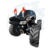 Cartoon Monster Truck. Available EPS-10 separated by groups and layers with transparency effects for one-click repaint stock illustration