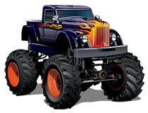 Cartoon Monster Truck Stock Images