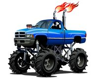 Cartoon Monster Truck. Available EPS-10 separated by groups and layers with transparency effects for one-click repaint vector illustration