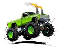 Cartoon Monster Truck. Available EPS-10 separated by groups and layers with transparency effects for one-click repaint Royalty Free Stock Photo