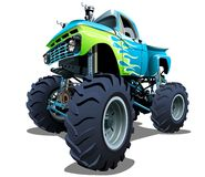 Cartoon Monster Truck. Available EPS-10 separated by groups and layers with transparency effects for one-click repaint Royalty Free Stock Photography