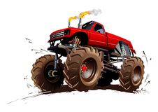 Cartoon Monster Truck Royalty Free Stock Photos