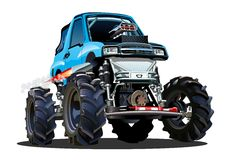 Cartoon Monster Truck Stock Image