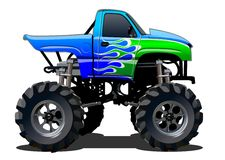Cartoon Monster Truck. Available EPS-10 separated by groups and layers with transparency effects for one-click repaint Stock Images