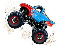 Cartoon Monster Truck. Available EPS-10 separated by groups and layers with transparency effects for one-click repaint Stock Photos