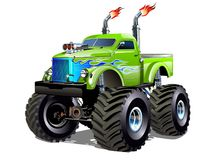 Cartoon Monster Truck. Available EPS-10 separated by groups and layers with transparency effects for one-click repaint Stock Image