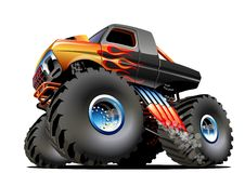 Cartoon Monster Truck. Available EPS-10 vector formats separated by groups and layers for easy edit royalty free illustration