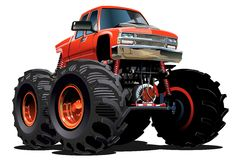 Cartoon Monster Truck Stock Photo