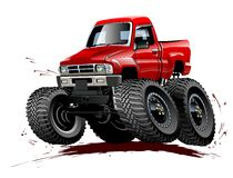Cartoon Monster Truck one-click repaint royalty free stock images