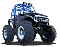 Cartoon Monster Truck. Vector Cartoon Monster Truck. Available EPS-10 separated by groups and layers Stock Photos