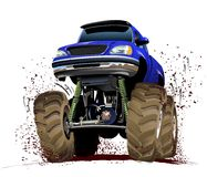 Cartoon Monster Truck. Vector Cartoon Monster Truck. Available EPS-10 vector format separated by groups and layers for easy edit Royalty Free Stock Photo