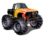Cartoon Monster Truck royalty free illustration