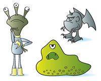 Cartoon Monsters Royalty Free Stock Images