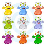 Cartoon monsters Royalty Free Stock Photography