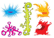 Cartoon monsters Royalty Free Stock Photos