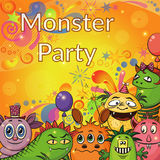 Cartoon Monsters Background Royalty Free Stock Images