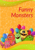 Cartoon Monsters Background Royalty Free Stock Photos