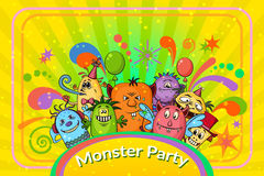 Cartoon Monsters Background Royalty Free Stock Image