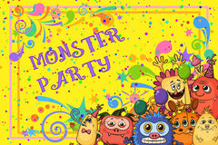 Cartoon Monsters Background Stock Photography