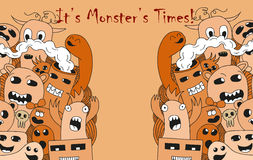 Cartoon monsters Stock Photos