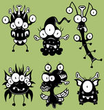 Cartoon monsters, goblins, ghosts. The collection of cartoon monsters, goblins, ghosts, aliens for Halloween or other events Stock Images