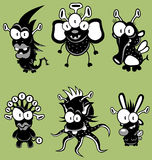 Cartoon monsters, goblins, ghosts Royalty Free Stock Photo