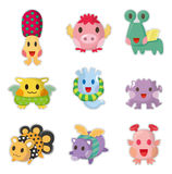 Cartoon Monsters icons set. Drawing Royalty Free Stock Photos
