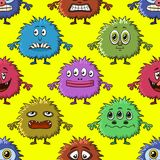 Cartoon Monsters Seamless Royalty Free Stock Image