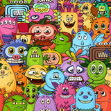 Cartoon Monsters Seamless Royalty Free Stock Photography