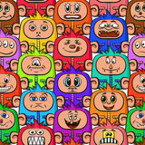 Cartoon Monsters Seamless Stock Photos