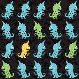 Cartoon monsters seamless pattern Stock Photo
