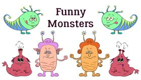 Cartoon Monsters Set Royalty Free Stock Photography