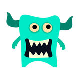 Cartoon monsters set. Colorful toy cute monster. Vector EPS 10 Royalty Free Stock Photo