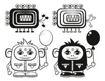 Cartoon Monsters Set Royalty Free Stock Images