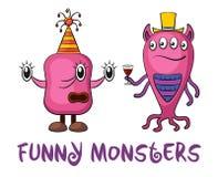 Cartoon Monsters Set Royalty Free Stock Photos