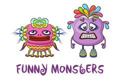 Cartoon Monsters Set Royalty Free Stock Photo