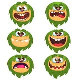 Cartoon Monsters set for Halloween. Vector set of cartoon monsters isolated. Design for print, party decoration, t-shirt, illustration, emblem or sticker Royalty Free Stock Image