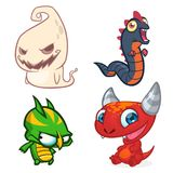 Cartoon Monsters. Vector set of cartoon monsters isolated Royalty Free Stock Photos