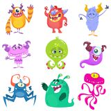Cartoon Monsters. Vector set of cartoon monsters isolated Royalty Free Stock Images