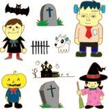 Cartoon monstes. Vector illustration. Cartoon set monstes. Vector illustration Royalty Free Stock Photos