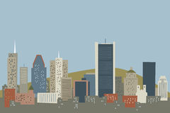 Cartoon Montreal Skyline Stock Photo