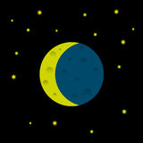 Cartoon moon and stars. Vector EPS10 Royalty Free Stock Images