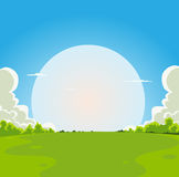 Cartoon Moonrise Background Stock Images