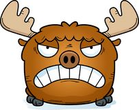 Cartoon Moose Angry. A cartoon illustration of a moose with an angry expression vector illustration