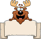 Cartoon Moose Banner Stock Images