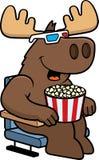 Cartoon Moose 3D Movies Stock Image