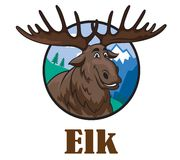 Cartoon moose or elk Stock Photography