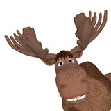 Cartoon moose Royalty Free Stock Image