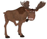 Cartoon moose looking backside Stock Image
